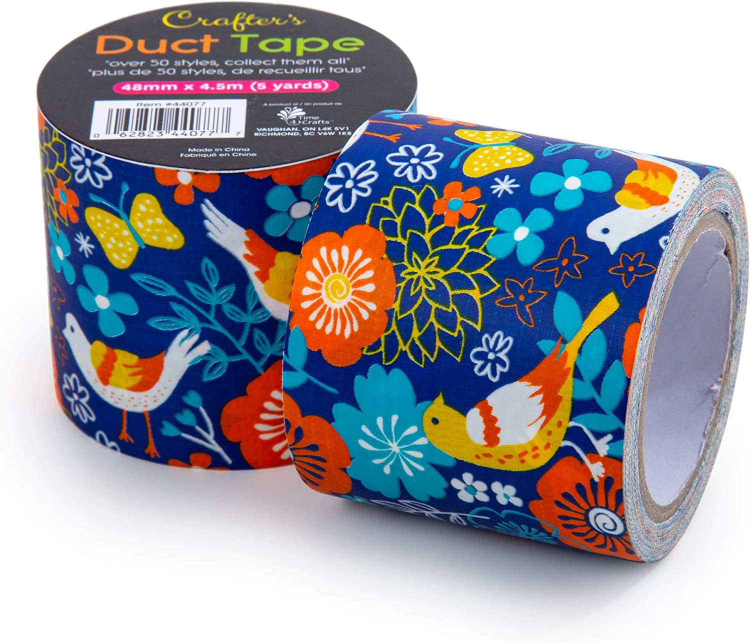 Time 4 Crafts Vibrant, 48mm x 4.5-Meter, 6 Pieces Fun Craft Duct Tapes, Blue Nature