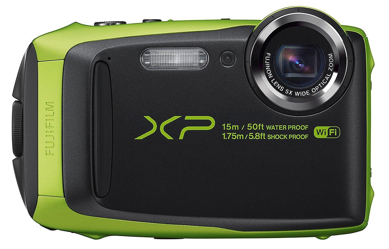 Fujifilm XP125 Waterproof Digital Camera, Graphite with Lime (Certified Refurbished)