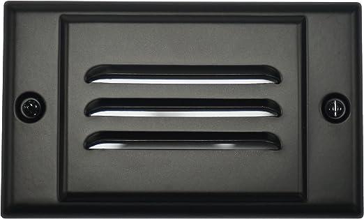 NICOR Lighting FPHBK Black Horizontal Faceplate for Nicor Stp-10-120-WH