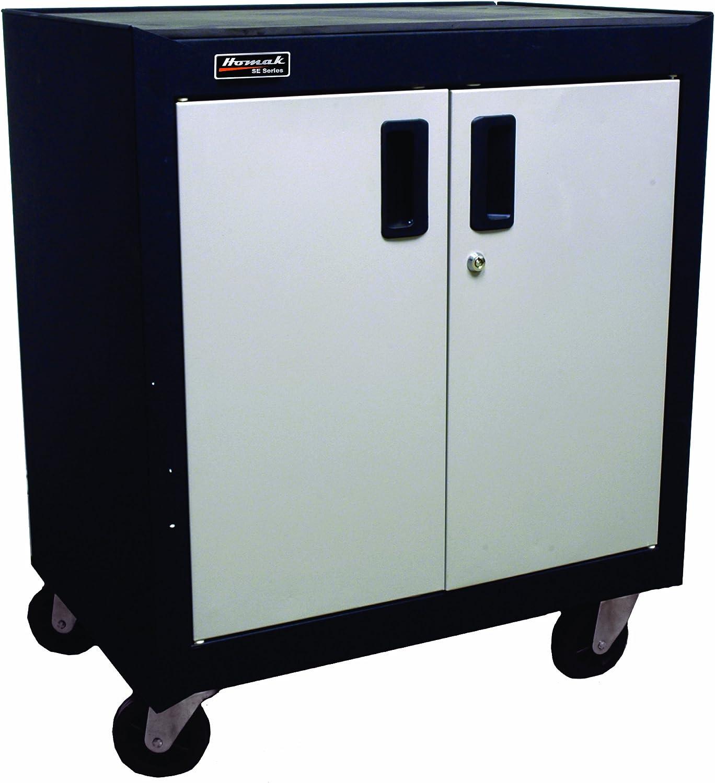Steel Homak GS04002270 2 Door Mobile Cabinet with Gliding Shelf