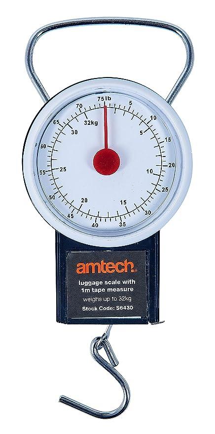 Am-Tech S6430 - Báscula para maletas (cinta de 1 m)