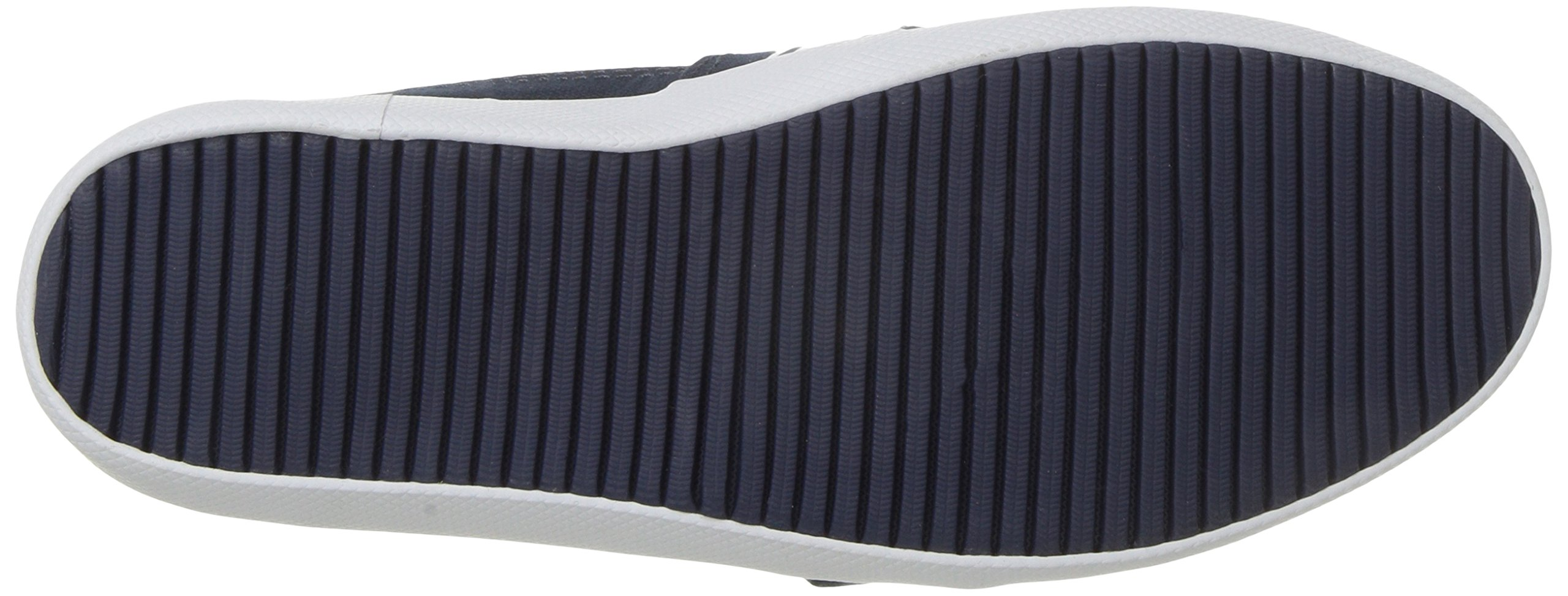 Lacoste Kids' Marice Slip-ONS,Navy/White Cotton Canvas,13. M US Little Kid by Lacoste (Image #3)