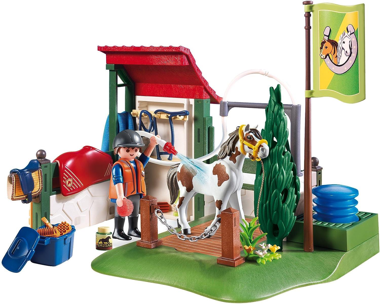 PLAYMOBIL/® Horse Grooming Station Building Set Playmobil Cranbury 6929