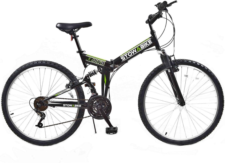 STOWABIKE Folding Dual Suspension - Bicicleta Doble suspensión ...
