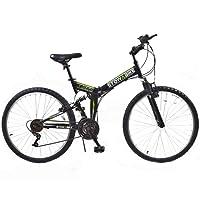 "Stowabike 26"" MTB V2 Folding Dual Suspension 18sp Gears Mountain Bike"