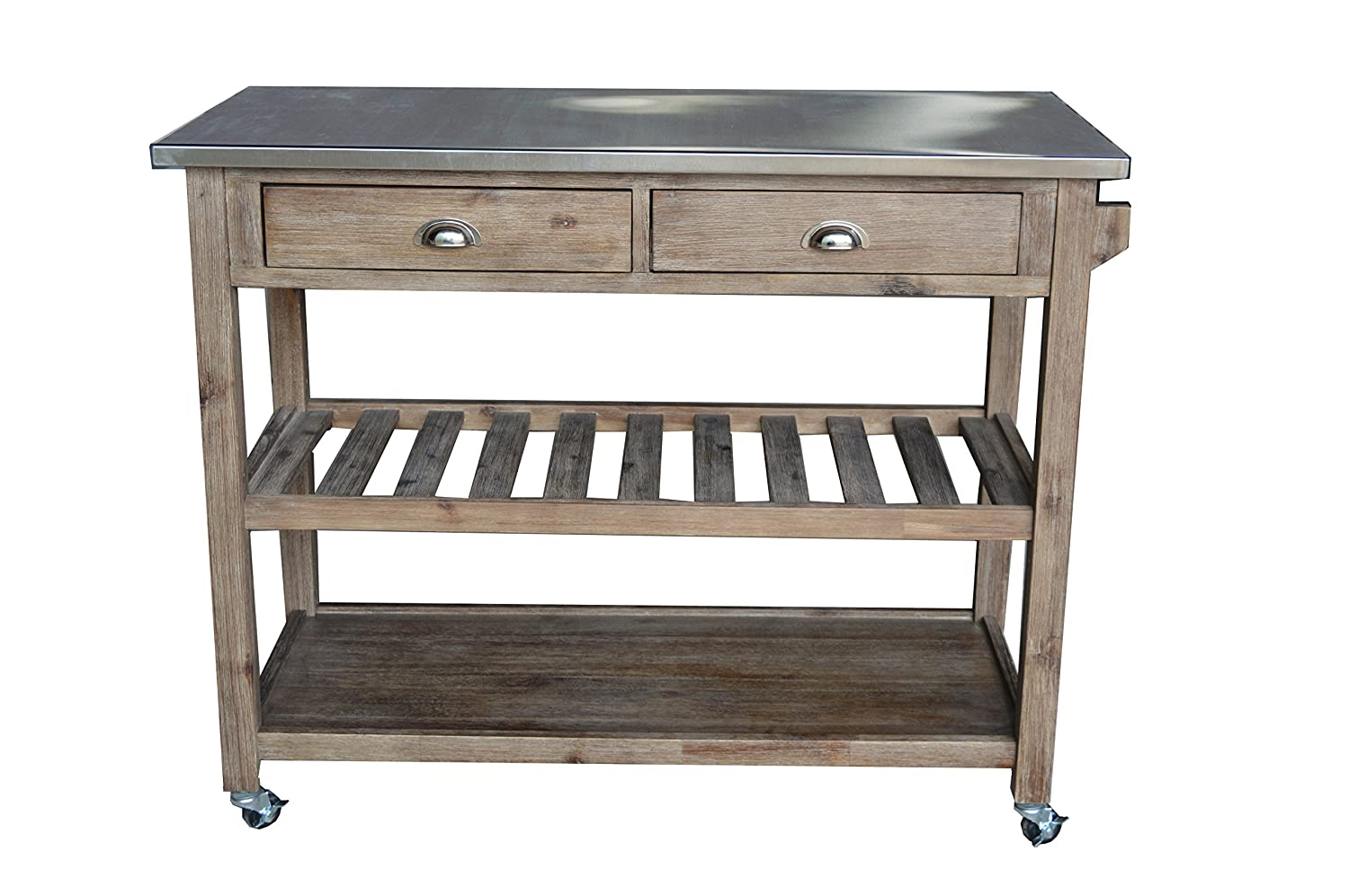 Amazon.com   Boraam 98520 Sonoma Wire Brush Kitchen Cart   Bar U0026 Serving  Carts