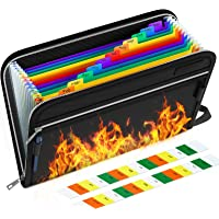 Fireproof File Folder Letter A4 Size/Waterproof Important Papers Organizer,13 Pockets Fire Proof Water Resistant…