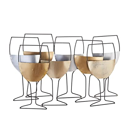 Amazon.com: Elements Metal Wine Glass Wall Art, 23-Inch-by-15-Inch ...