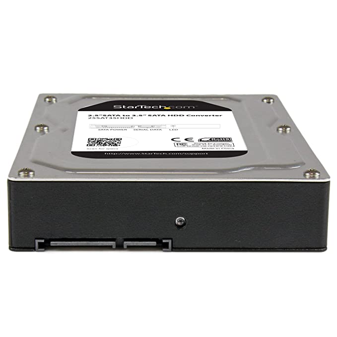 "2.5"" to 3.5"" SATA Aluminum Hard Drive Adapter Enclosure SSD / HDD Height up to 12.5mm - 2.5in to 3.5in SATA SSD/HDD Converter"