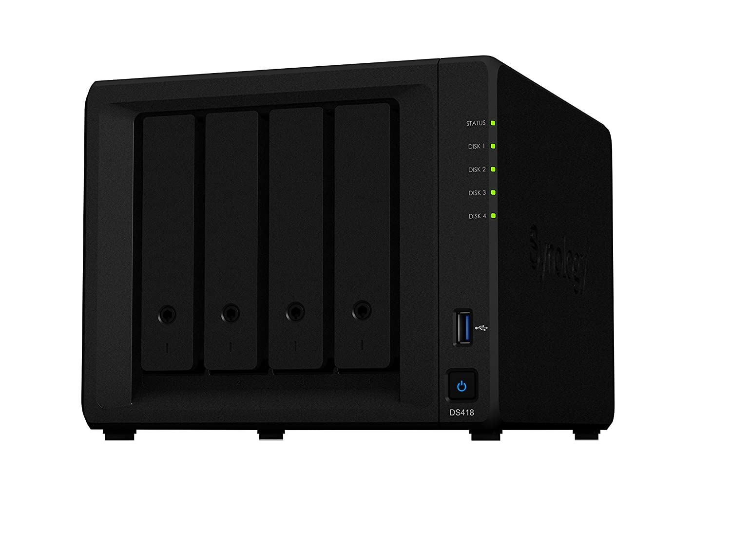 Synology DS418 12TB (4 x 3TB WD Red HDD) - Unidad Raid (12000 GB, 3000 GB, DiskStation Manager)