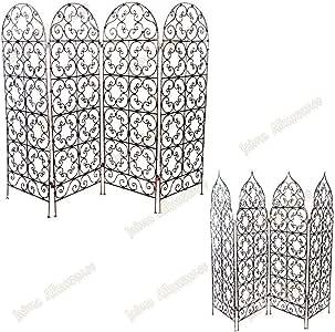 forja – Pantalla de 4 hojas – Diseño 3 Tamaños – 2 modelos – Árabe – Arc, Medium: Amazon.es: Hogar