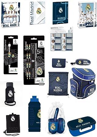 18 piezas Real Madrid Ronaldo juego de mochila escolar y mochila escolar preciosos: Amazon.es: Electrónica
