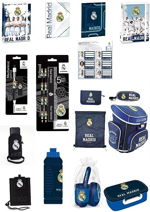 18 piezas Real Madrid Ronaldo juego de mochila escolar y mochila escolar preciosos