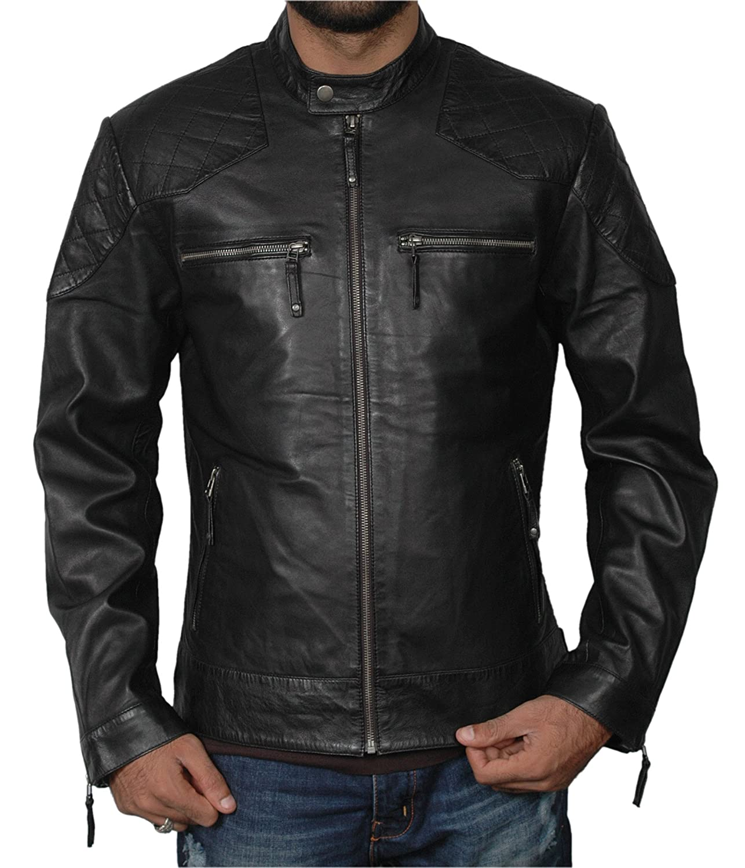 Notice Ridy Men's Genuine Leather Jacket Black