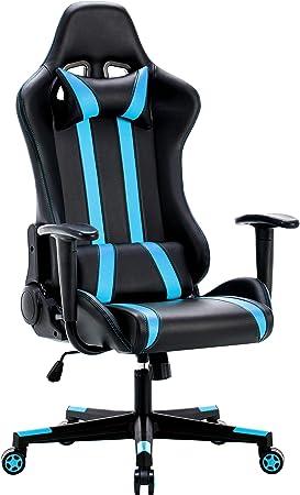 IntimaTe WM Heart La Sedia Gaming, Sedia da Gioco di Pu, 135 Gradi dell'inclinazioni, Sedia Girevole ergonomica