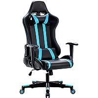 IntimaTe WM Heart Gaming Stuhl, Racing Stuhl, Gamer Stuhl Ergonomischer Bürostuhl, PU Chefsesel Computerstuhl mit Kopfkissen und Taillenstütze, 135° kippbare Rückenlehne