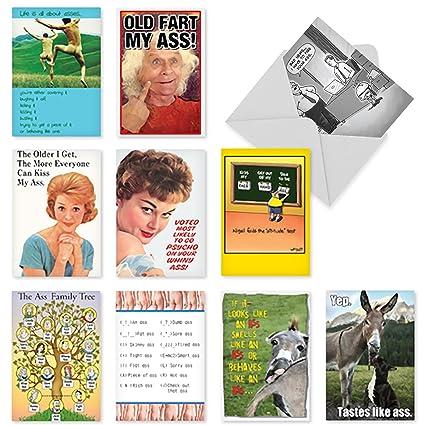 10 Classy Sassy And Assy Birthday Assortment Cards W Envelopes Funny