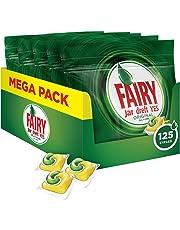 Fairy Original Limón - Pastillas lavavajillas todo en 1, 125 cápsulas (5 x 25)