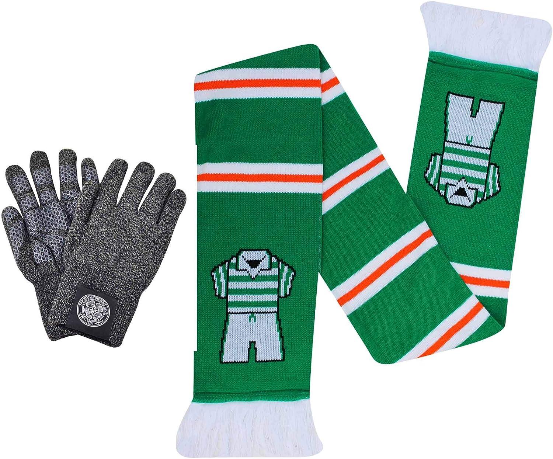 Super Hoops Official Celtic FC Winter Gloves /& Bar Scarf Gift Set