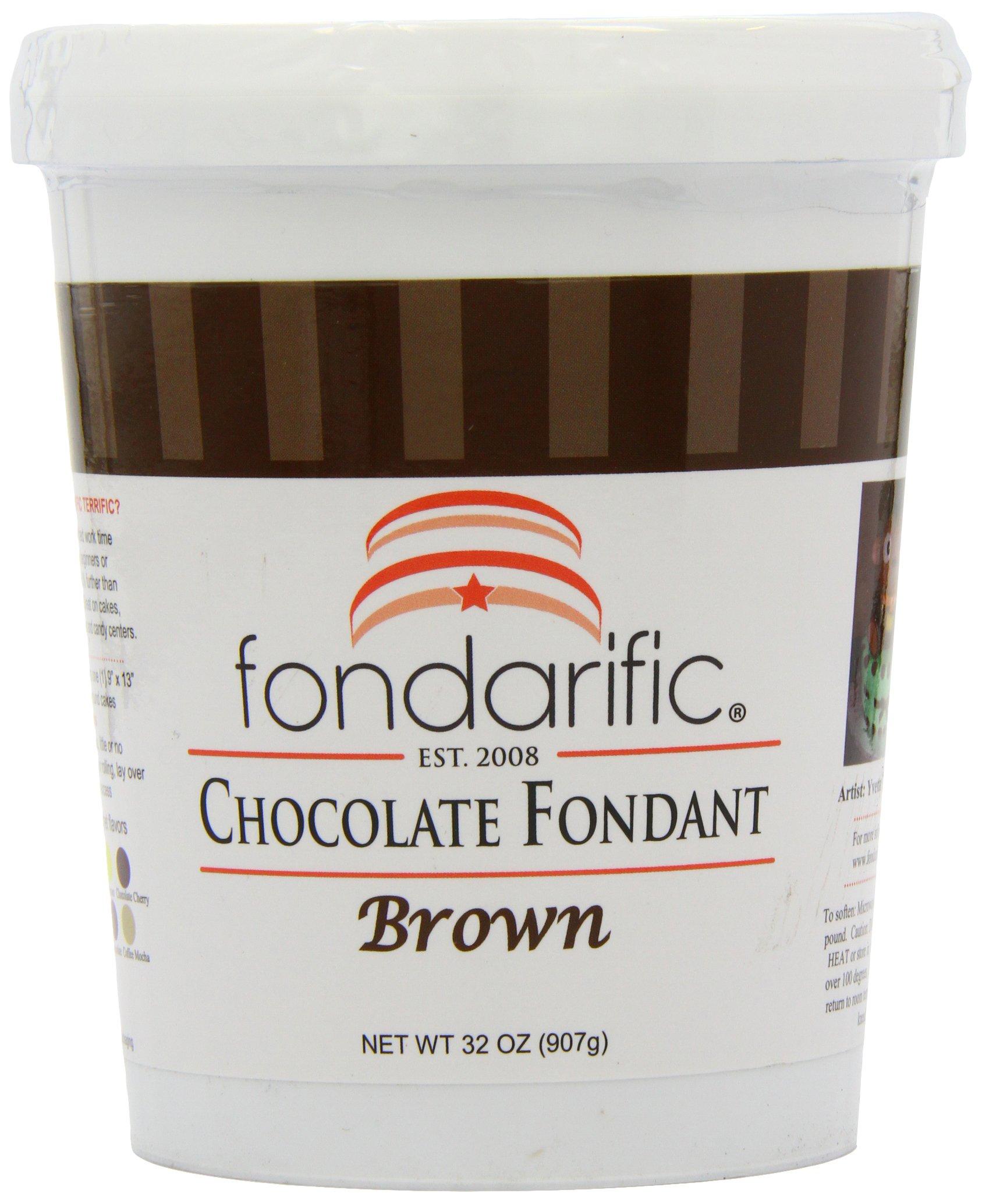 Fondarific Chocolate Fondant Brown, 2-Pounds