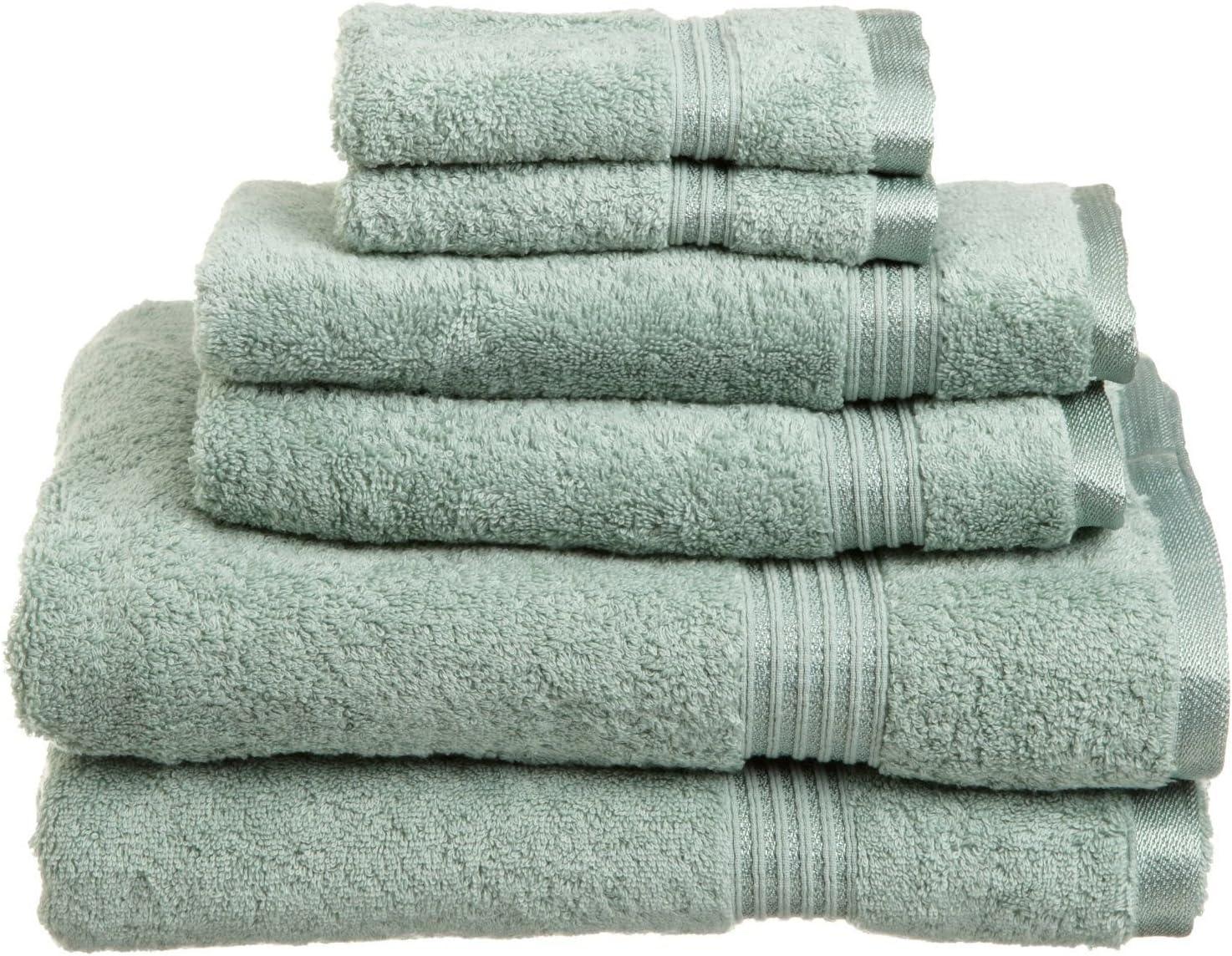 SUPERIOR Luxury Cotton Bath Towel Set - 6-Piece Towel Set, 600 GSM, Long-Staple Combed Cotton Towels, Sage Green