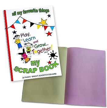 Amazon.de: A4 + Kinder Scrap Book - Farbige Seiten - Scrapbooking ...