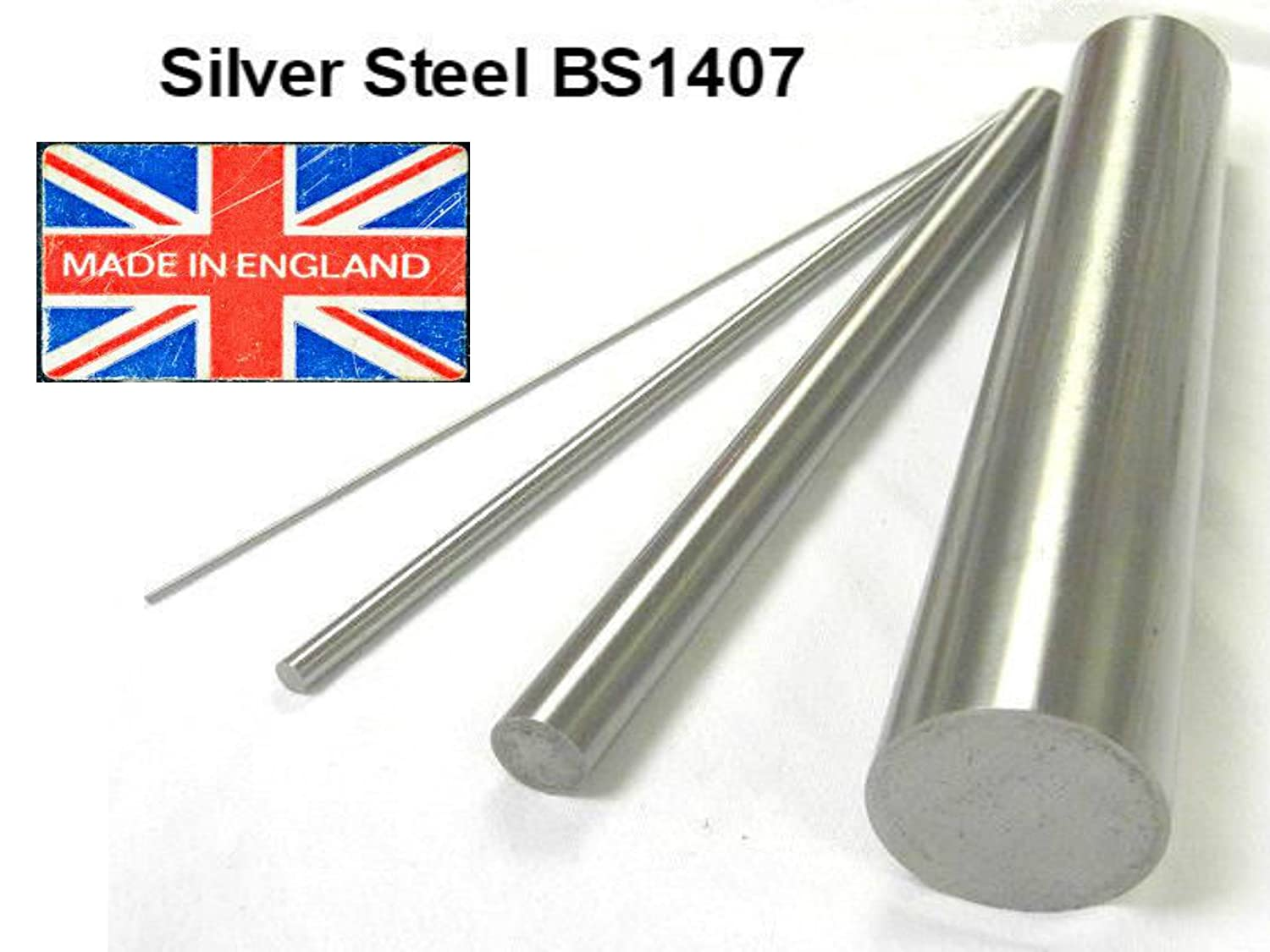 BS1407. Precision Ground Metric Round Rod Shaft Silver Steel Bar Long 3mm Diameter x 333mm 330mm