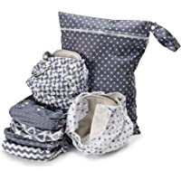 Simple Being Unisex Reusable Baby Cloth Diapers, Washable Adjustable Eco-Friendly, Soft Super Absorbent Fabric with…