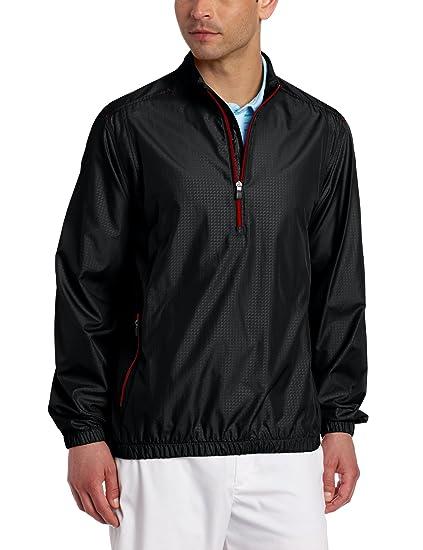 d13037a6c773 Amazon.com   adidas Golf Men s Climaproof Wind 1 2 Zip Jacket
