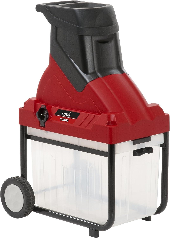 MTD 24AC7B2B600 Biotrituradora Eléctrica, 2500 W, 230 V, Rojo