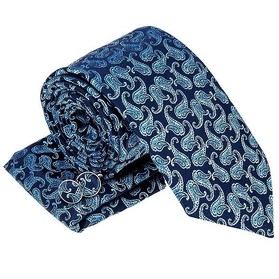Retreez - Corbata - Paisley - para hombre Marineblau Und Blau ...