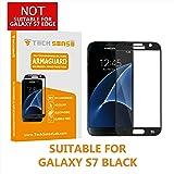 Tech Sense Lab Samsung Galaxy S7 Edge To Edge 3D Premium Tempered Glass Screen Protector (9H) By Tech Sense Lab - For Samsung Galaxy S7 (Black)