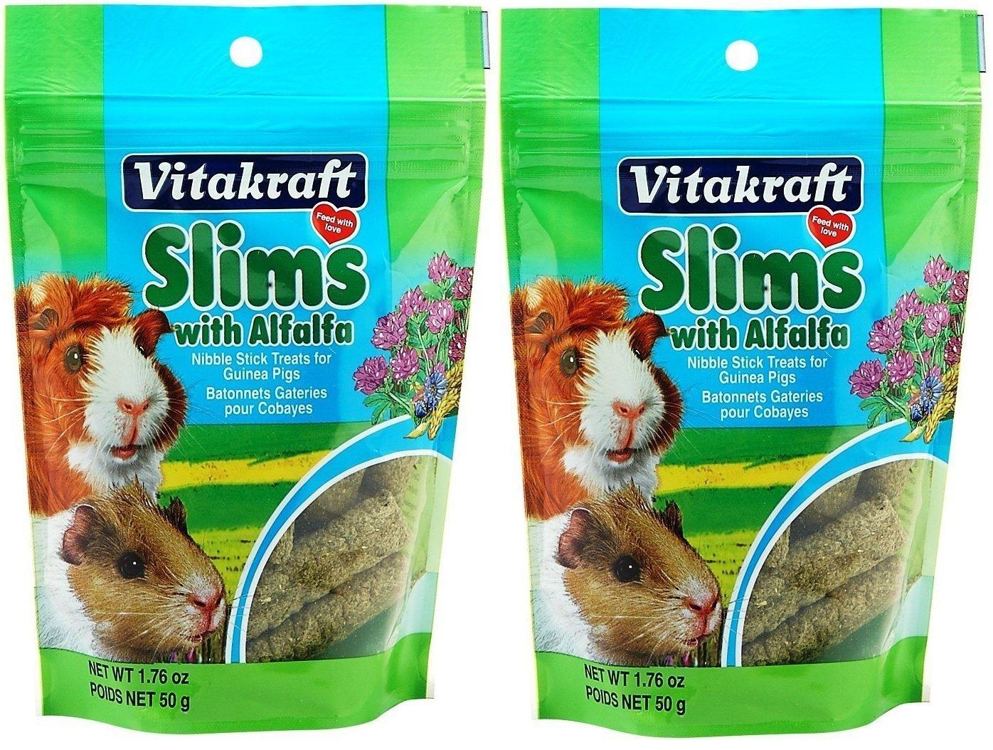 Vitakraft Guinea Pig Slims with Alfalfa Nibble Stick Treat, 2 Count