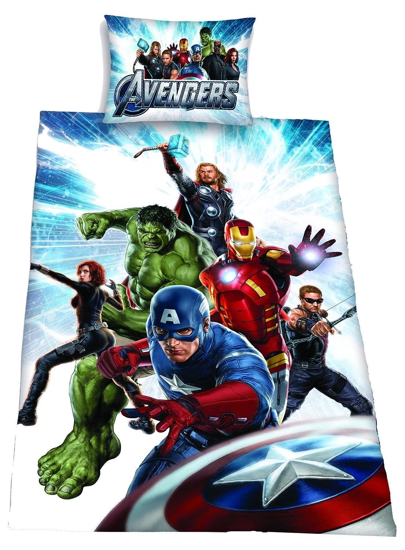 stunning marvel housse de couette officielle avengers motif hulk ironman thor captain america. Black Bedroom Furniture Sets. Home Design Ideas