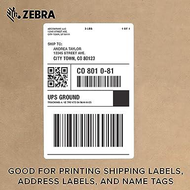 Zebra ZD420c - Cartucho de cinta para impresora de escritorio para ...