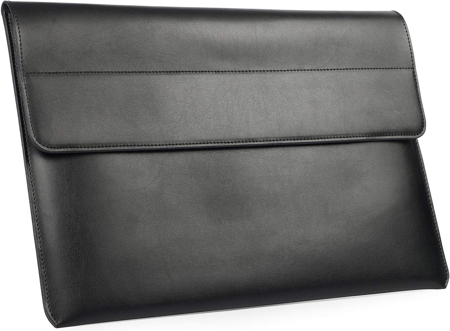 TYTX Split Leather Laptop Sleeve 13.3 Inch MacBook Air MacBook Pro Protective Cover Case Fits Model A1466/A1369/A1502/A1425 (Black)