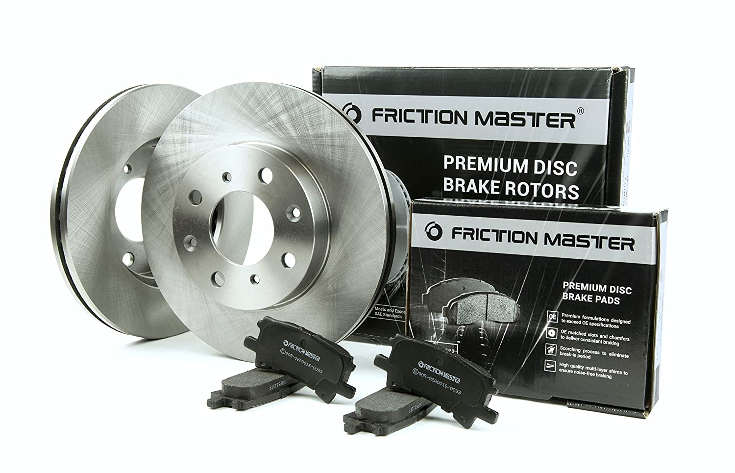 Friction Master Front Premium OE Brake Rotors & Ceramic Pads |FITS: 2007-2009 2010 2011 2012 2013 2014 2015 TOYOTA CAMRY BK1934