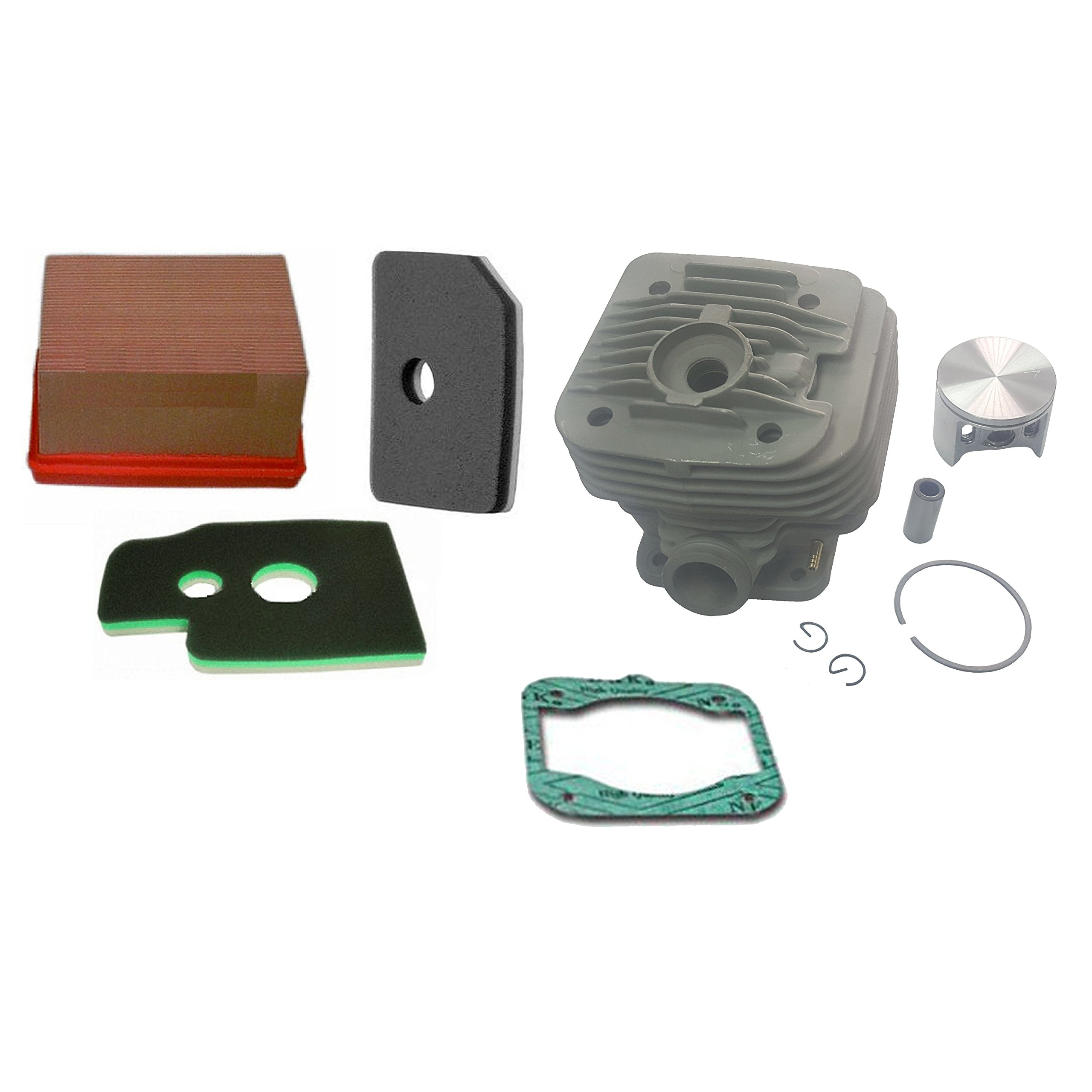 SPERTEK Cylinder Piston + Gasket + Air Filter For Makita DPC7310 DPC7311 Cut off Nikasil by RA
