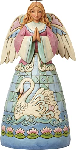 Jim Shore Heartwood Creek Grace Divine Angel with Swan Dress Figurine