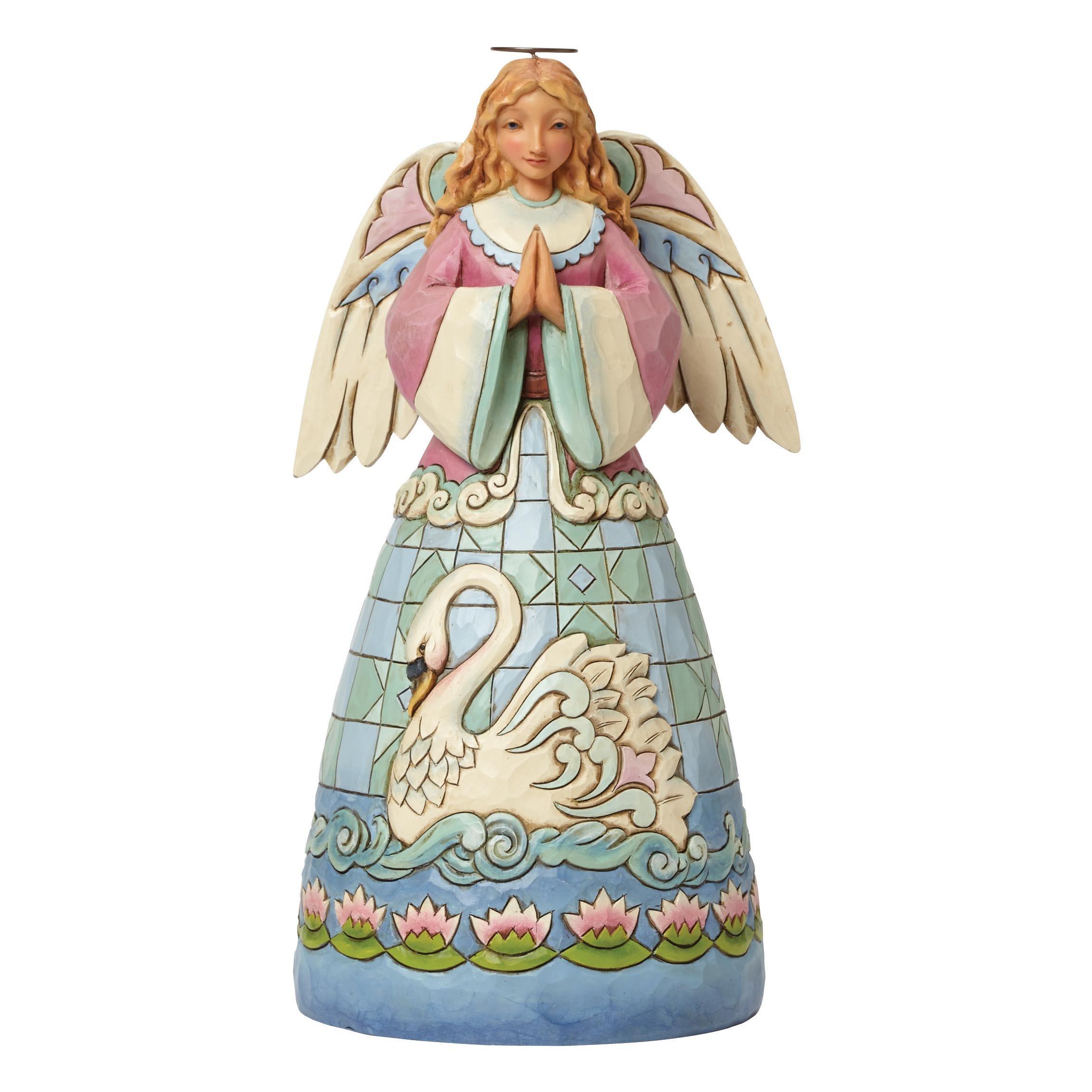 Jim Shore Heartwood Creek Grace Divine Angel with Swan Dress Figurine