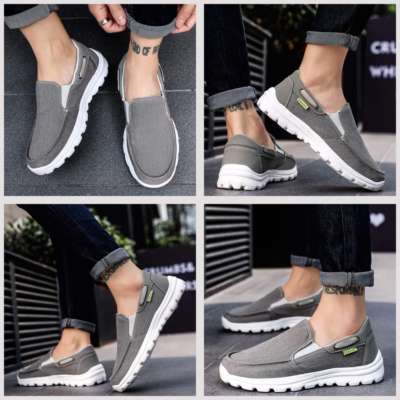 ChayChax Espadrilles Homme Respirant Chaussures de Toile Doux Mocassins Loafers Antid/érapant D/écontract/ée Chaussures Taille 39-48