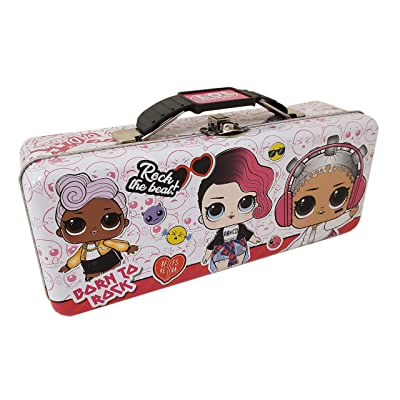 L.O.L. Surprise! Tin Pencil Box with Handle & Clasp, White: Toys & Games