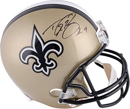 1eed6818c7f Amazon.com  Drew Brees New Orleans Saints Autographed Riddell Replica  Helmet - Fanatics Authentic Certified - Autographed NFL Helmets  Sports  Collectibles