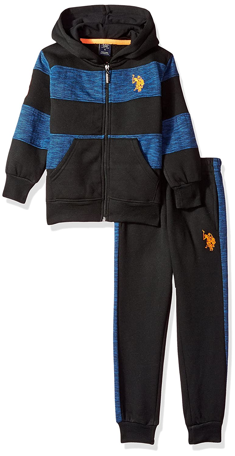 U.S Polo Assn Boys Little 2 Piece Jog Set J50100BL