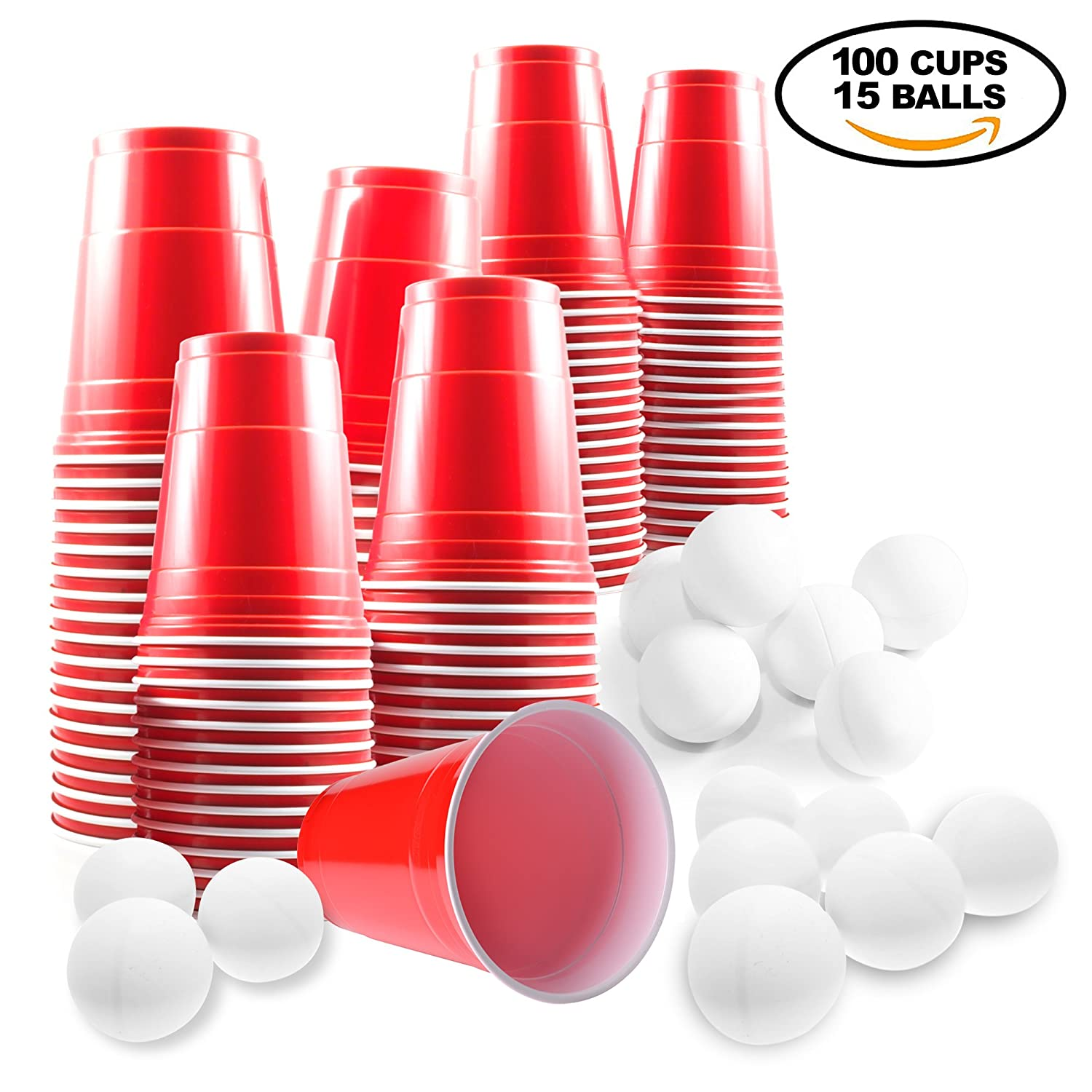 Iconic Red American Beer Pong Set – 100 Cups and 15 Balls – Perfect for Christmas Party Fun and Games The Twiddlers .