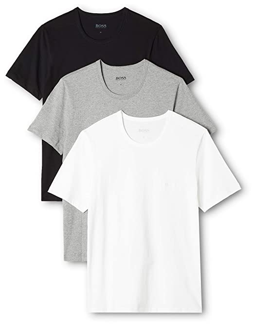 9a09e134c6b Hugo Boss 3-Pack Crew-Neck Men's T-Shirts, Black/White/Grey: Amazon.ca:  Clothing & Accessories