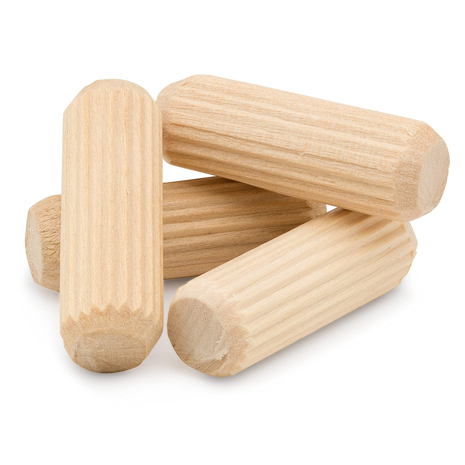 Pack of 100 Straight Fluted Dowel Pins with Beveled End Wooden Dowel Pins 3//8 x 1-1//2 by Woodpeckers