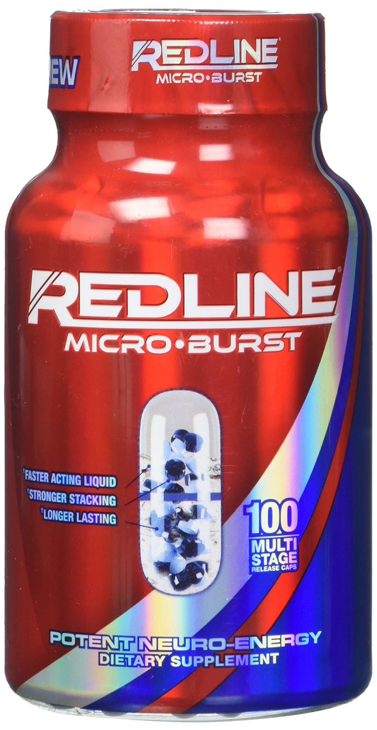 VPX Redline Microburst Multi-stage Delivery System Thermogenic Fat Burner, 100 Capsules by VPX