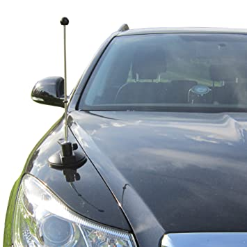Car Flag Pole Diplomat Air With Suction Mount