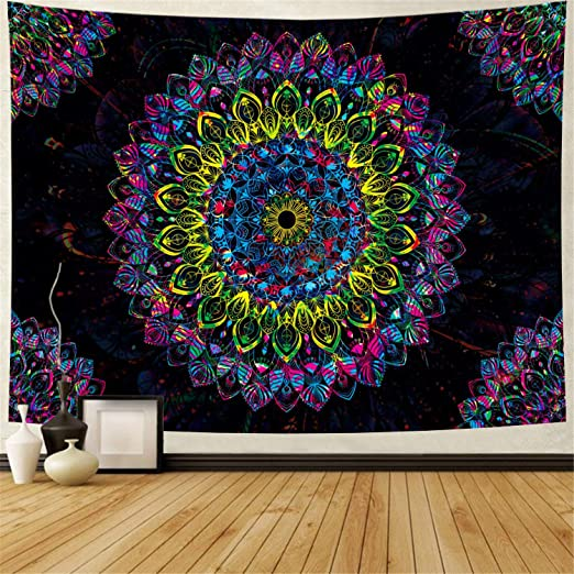 Psychedelic Hanging Colorful Printed Decoration Wall Tapestries Tapestry Indian